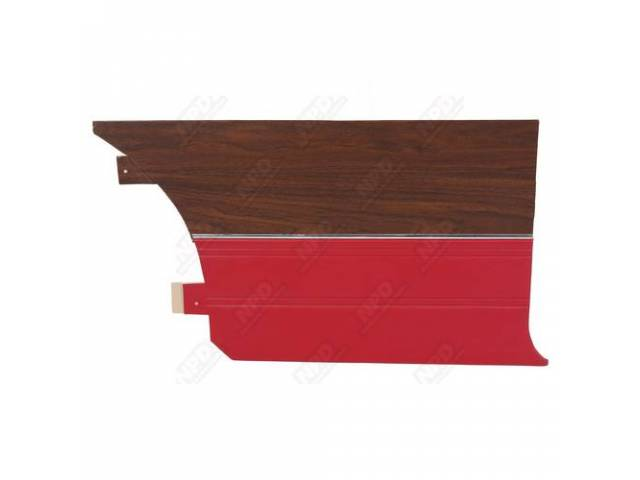 Rear Quarter Trim Panels, Red, Coachman Grain