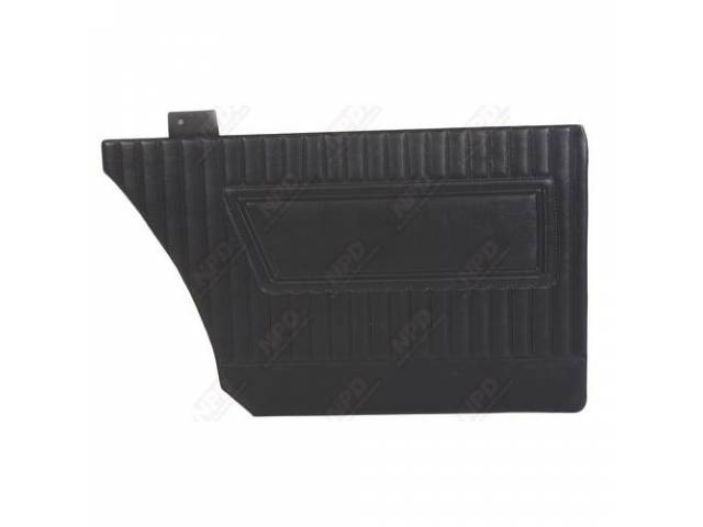 Rear Quarter Trim Panel, Black, Cologne Grain