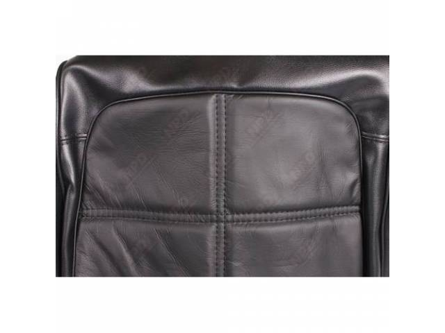 Front Sea Uph Black Leather