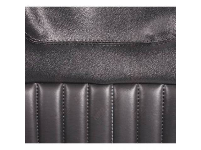 Upholstery Set Rear Seat Black Dlx Style And