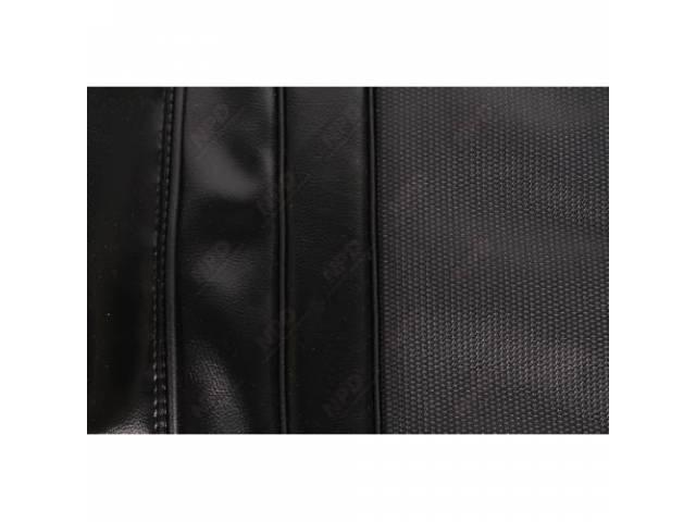 Rear Seat Uph Black Coachman Grain Vinyl W/