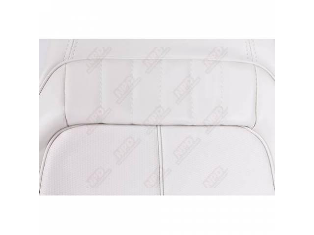 Rear Seat Uph White Coachman Grain W/ Ranger