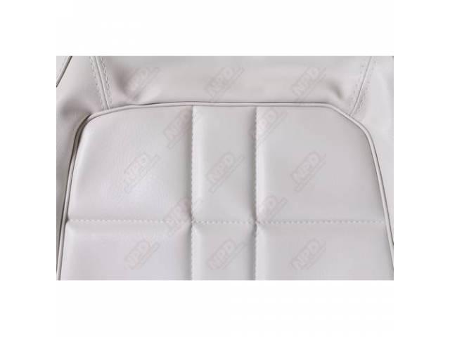 Rear Seat Uph White Coachman Grain W/ Elpaso