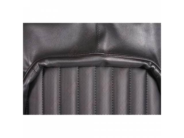 Upholstery Set Front Buckets Black W/ Ranger Grain