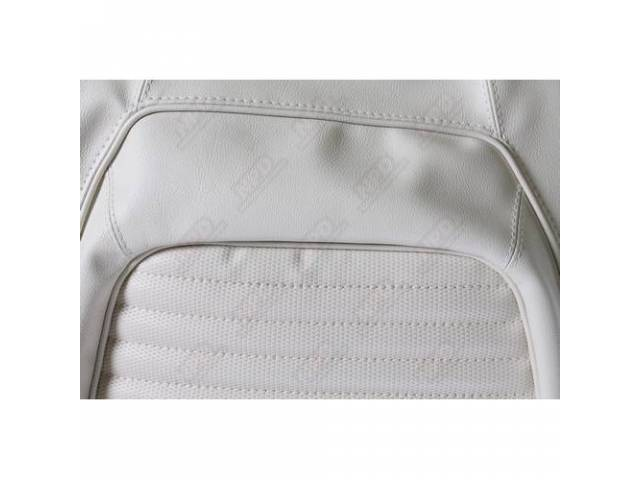 UPHOLSTERY SET REAR SEAT WHITE W/ RANGER GRAIN