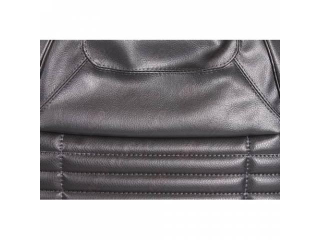 Upholstery Set Rear Seat Black W/ Regal Grain