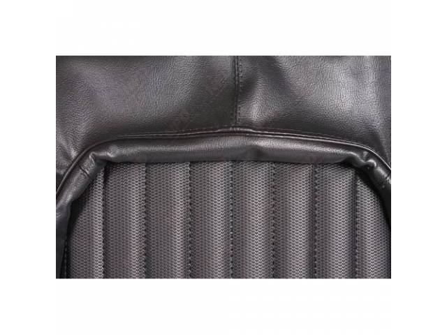 Upholstery Set, Rear Seat, Black, W/ Ranger Grain