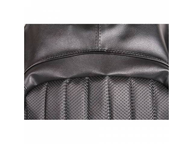 Upholstery Set, Rear Seat, Black, W/ Empire Grain