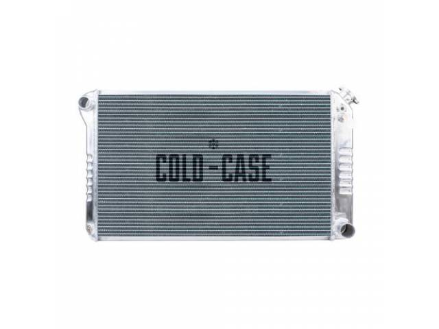 Radiator Cross Flow Aluminum 2 Row Cold Case