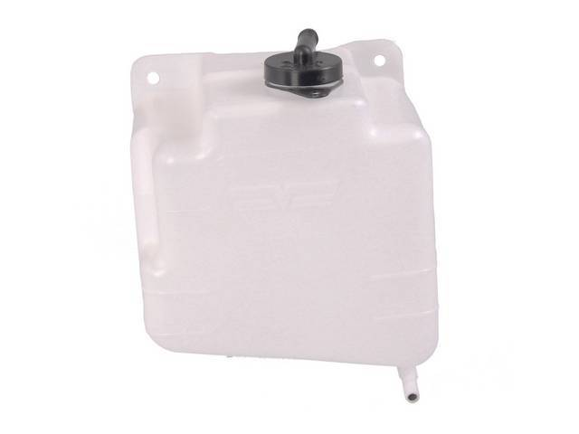 RESERVOIR, ENGING COOLANT RECOVERY, W/ BLACK CAP