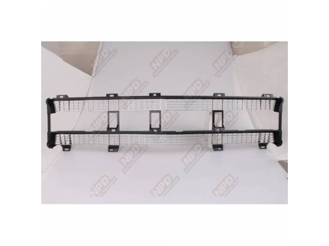 Grille Insert Radiator Black And Silver Painted Finish