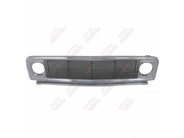 Grille Radiator Repro Chrome W / 4 Mm