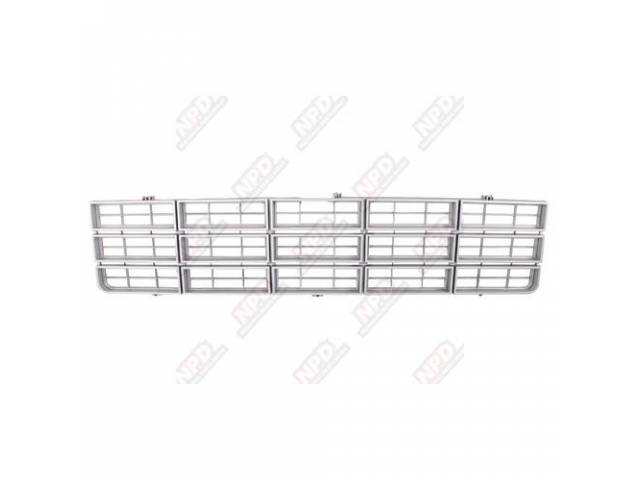 Grille Radiator Repro Argent Silver / Gray