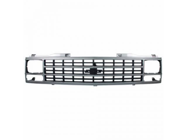 Grille Radiator W/ Single Head Light Silver /