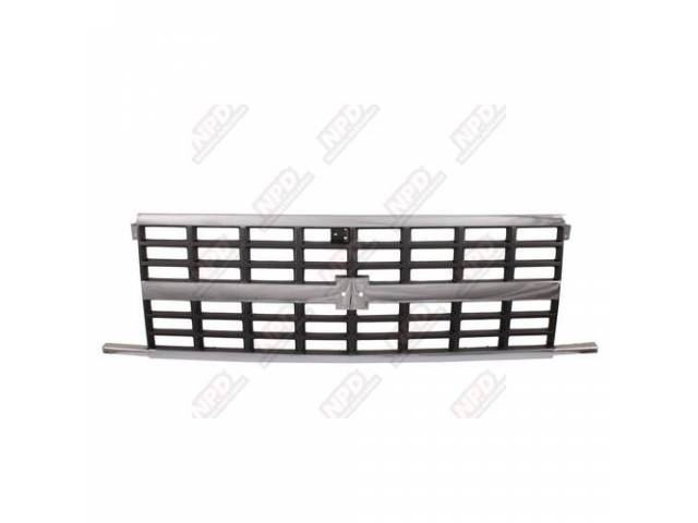 Grille Radiator Chrome / Argent W/ Dual Headlights