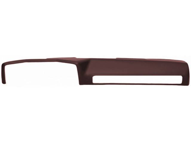 DASH COVER, FULL, MOLDED PLASTIC, BURGUNDY, INCL ADHESIVE