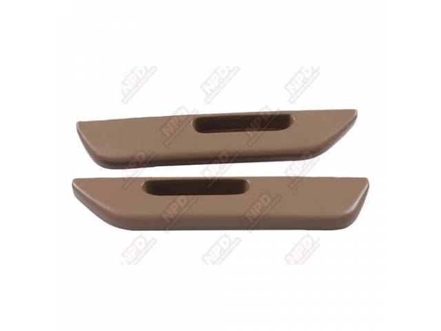 Arm Rest Set Front Door Saddle Tan Vinyl