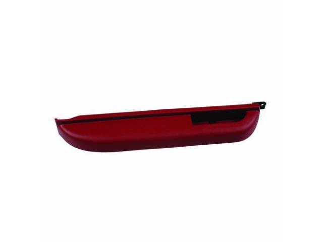 ARM REST, Front Door, Cognac (Red), LH, GM Original  ** Can be painted to match other interior color w/ vinyl paint **