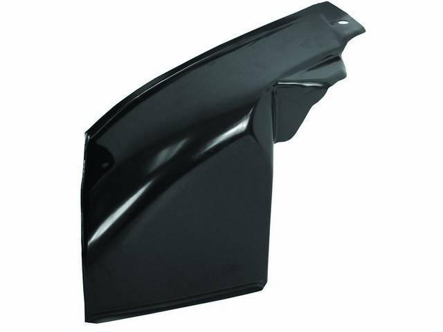 REPAIR PANEL, Splash Shield / Rear Fender Skirt, RH, Inner Bedside, 19 gauge steel, EDP-coated repro