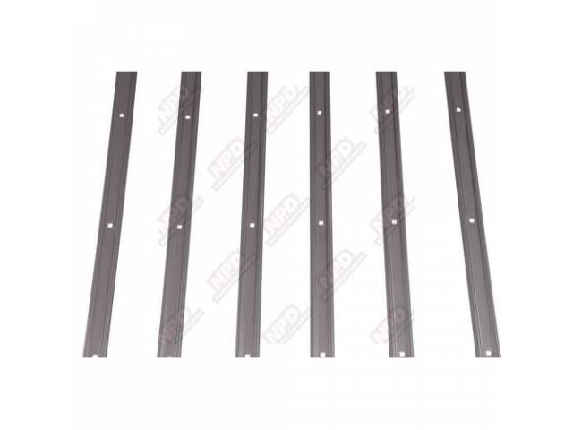 Bed Strip Set Holes Pre-Punched Polished Stainless Steel