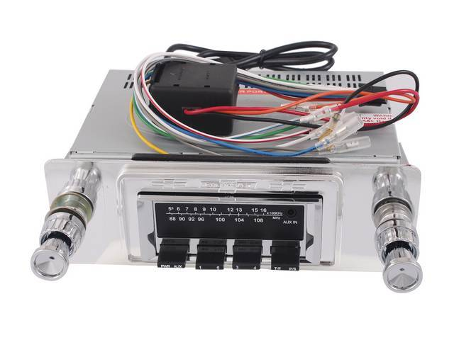 RADIO, AM/FM W/ Front Auxiliary Input (for iPod,