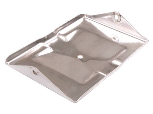 TRAY, Battery, Bottom section, stainless repro