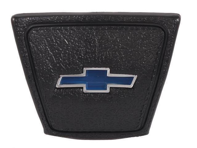 CAP, Horn, *BOWTIE*, Black base w/ blue bowtie emblem in the center, repro