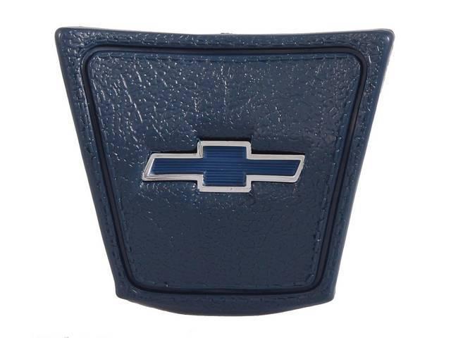CAP, Horn, *BOWTIE*, Dark Blue base w/ blue bowtie emblem in the center, repro