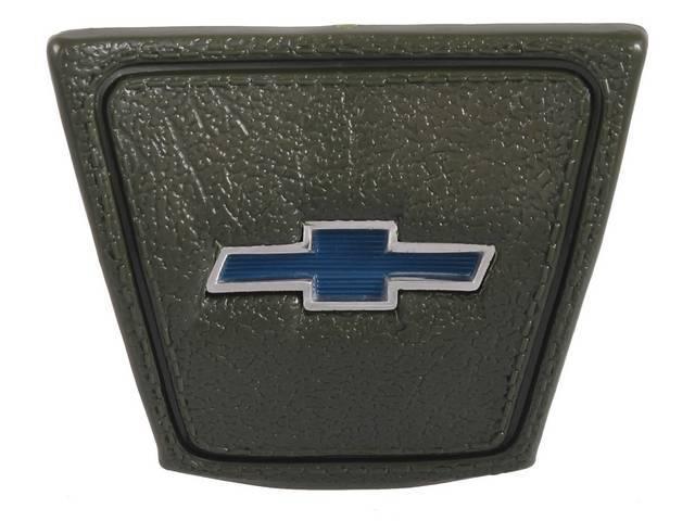 CAP, Horn, *BOWTIE*, Green base w/ blue bowtie emblem in the center, repro