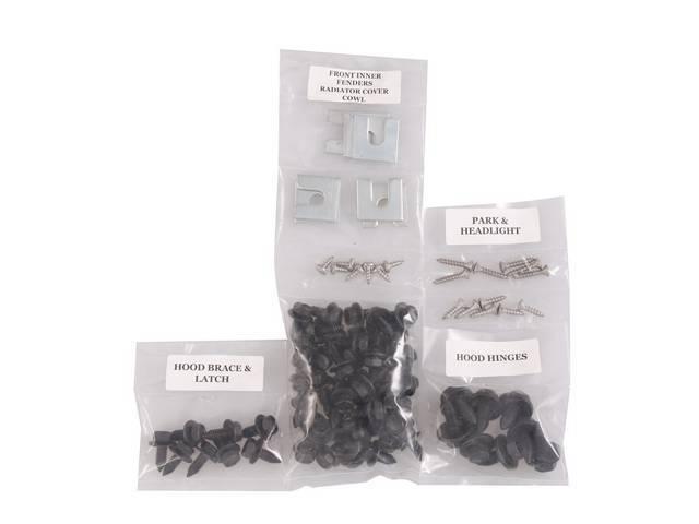 FASTENER KIT, Front Sheetmetal, Black Phosphate Finish, bolts