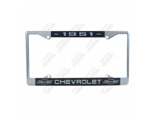 Frame License Plate Chrome Frame W/ 1951 At