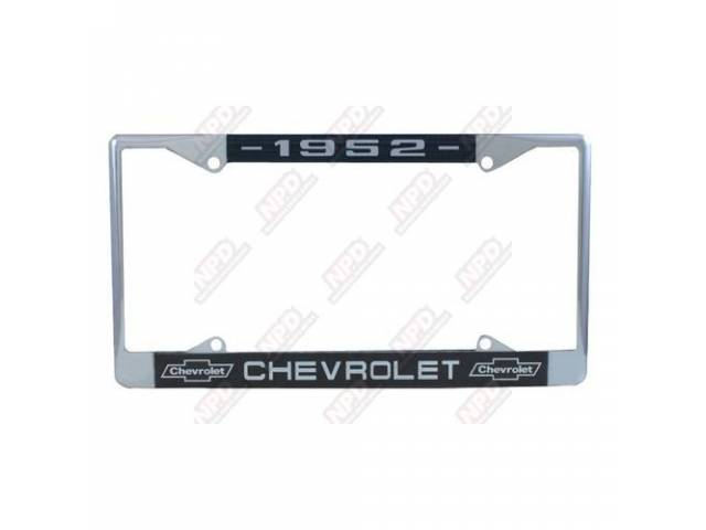 Frame License Plate Chrome Frame W/ 1952 At