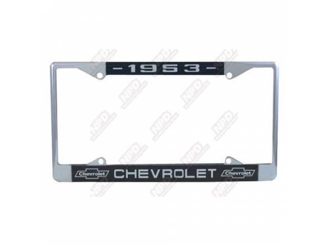 Frame License Plate Chrome Frame W/ 1953 At