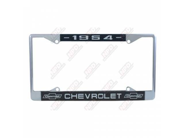 Frame License Plate Chrome Frame W/ 1954 At