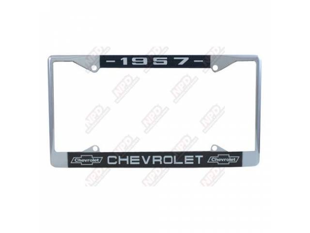 Frame License Plate Chrome Frame W/ 1957 At