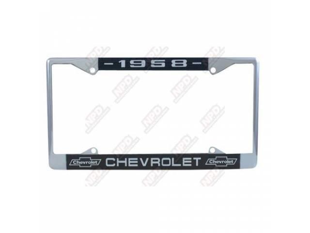 Frame License Plate Chrome Frame W/ 1958 At