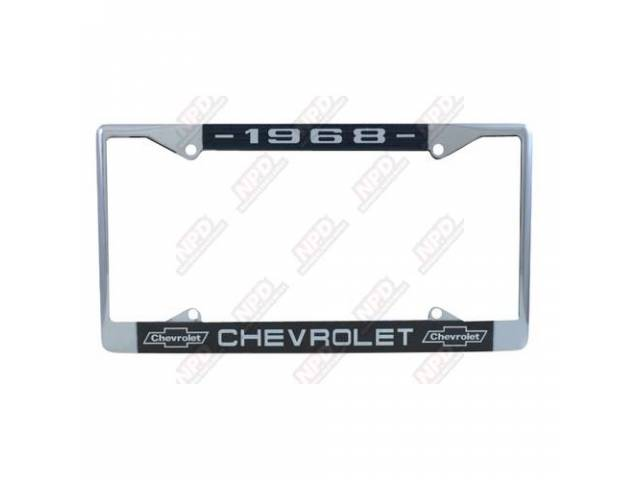 Frame License Plate Chrome Frame W/ 1968 At