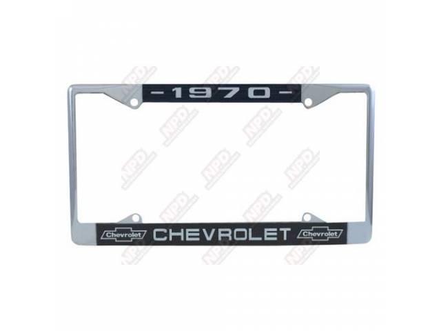 Frame License Plate Chrome Frame W/ 1970 At