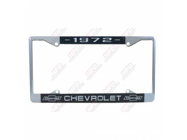 Frame License Plate Chrome Frame W/ 1972 At