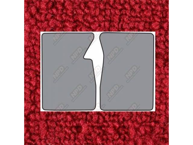 Floor Mats Carpet Loop Style 2 Piece Red