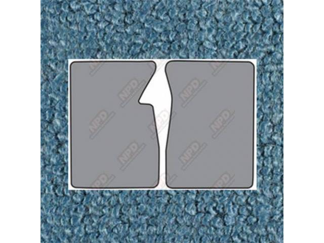 Floor Mats Carpet Loop Style 2 Piece Med