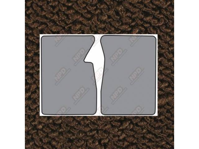 Floor Mats Carpet Loop Style 2 Piece Dark