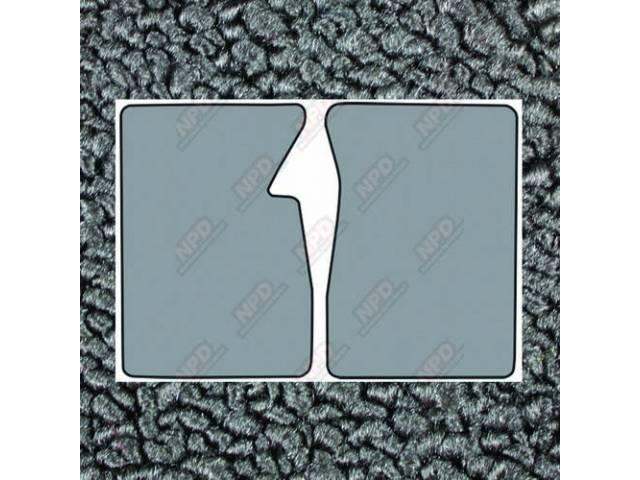 Floor Mats Carpet Loop Style 2 Piece Gunmetal