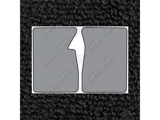 Floor Mats Carpet Loop Style 2 Piece Black