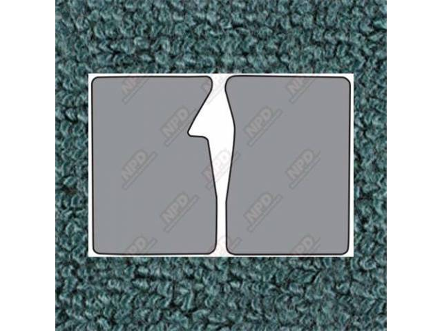 Floor Mats Carpet Loop Style 2 Piece Aqua