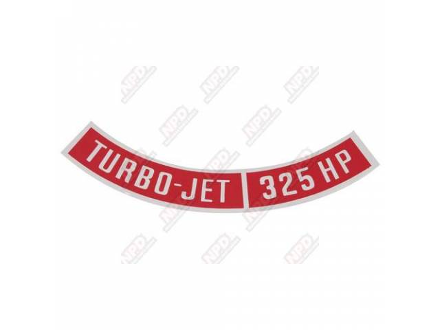Decal Air Cleaner Goto C-Dc10 Turbo-Jet 325 Hp
