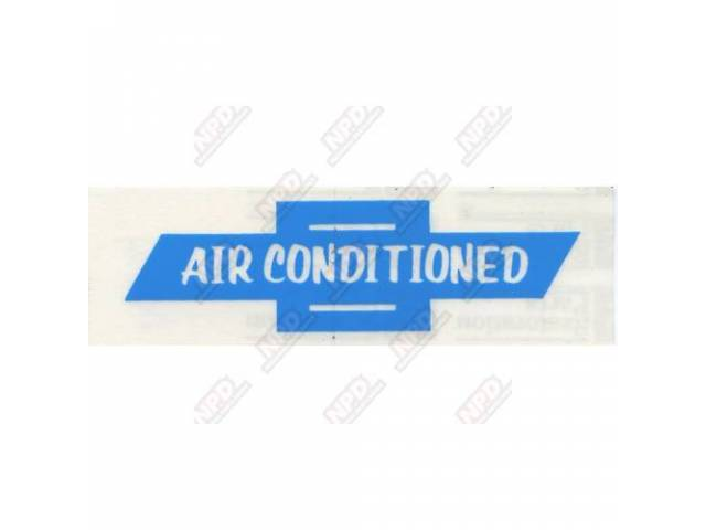Decal Window Goto C-Dc234 A/C Air Conditioned W/