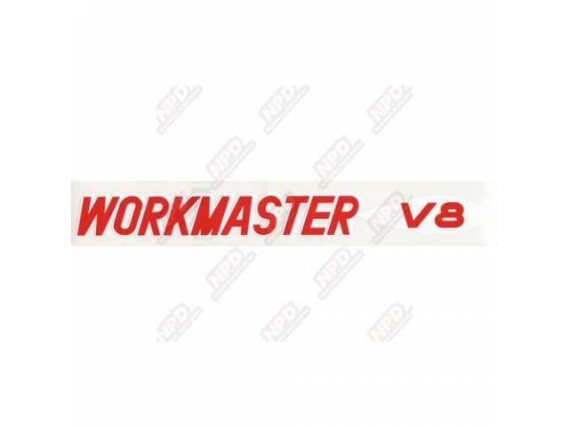 Decal Valve Cover Workmaster V8 Gm 3750786