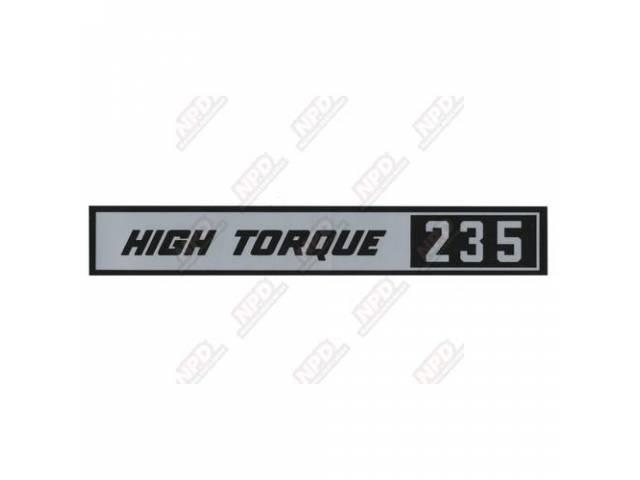 Decal Valve Cover Hi-Torque 235 Gm 3813000