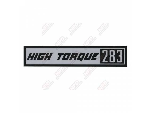 Decal Valve Cover Hi-Torque 283 Gm 3814839
